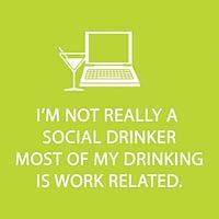 Bar Napkin Social Drinker