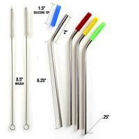 Nylon Tip SS Straws & Brush