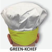 Kid's Chef Hat Green Trim