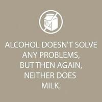 Bar Napkin Alcohol Doesn't
