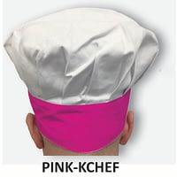 Kid's Chef Hat Pink Trim