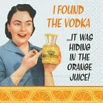 Bar Napkin In The Orange Juice