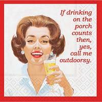 Bar Napkin Call Me Outdoorsey