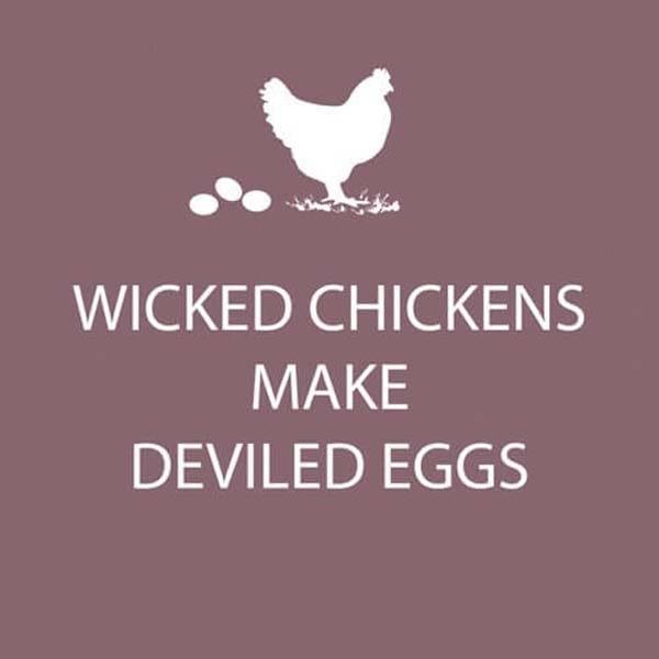 Bar Napkin Wicked Chickens